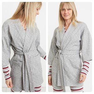 NWT Marine Layer Meryl Sherpa Robe Heather Gray
